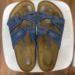 Birkenstock blue sandals, size 41